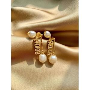 DIOR官网迪奥奢侈品代购网字母星星珍珠不对称J'ADIOR耳环E1372