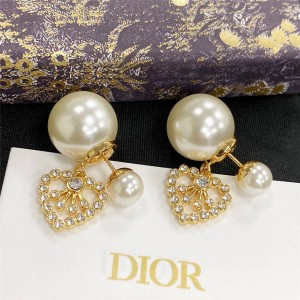 DIOR迪奥官网国外奢侈品网站Tribales心形珍珠耳环