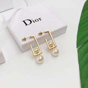 DIOR迪奥官网小时代里的奢侈品G型可拆卸双珠耳环
