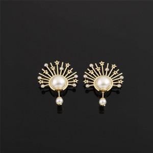 DIOR迪奥代购中国奢侈品网孔雀水钻大小珠耳钉耳环