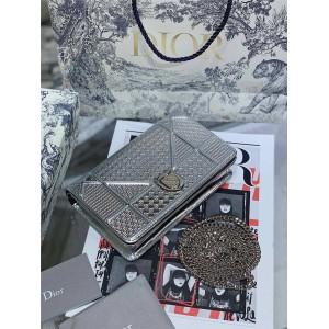 迪奥中文官网拉玛手拿包经典滕格纹diorama MINI woc链条包盾牌包S0328