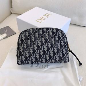 dior法国官网迪奥奢侈品折扣网站帆布oblique老花化妆包手拿包S5416