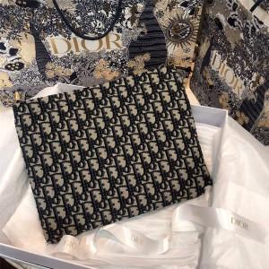 DIOR迪奥中国官网奢侈品购物新款Oblique系列最新帆布拉链手拿包