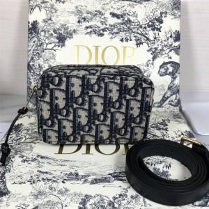 dior美国官网迪奥代购原单新款Oblique 印花帆布腰包S5446