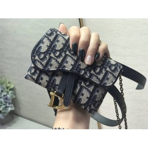 DIOR迪奥中国官网奢侈品网站新款老花Oblique帆布迷你腰包胸包