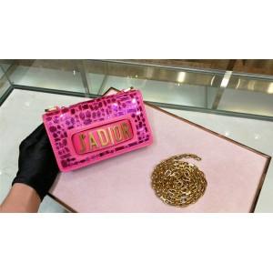 迪奥官方网站法国奢侈品牌新款小号刺绣马赛克镜片J'adior链条包