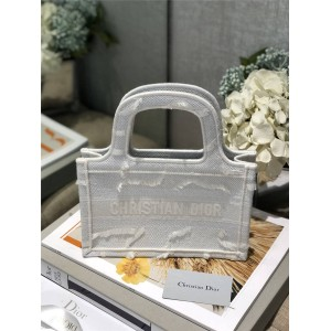 DIOR官网迪奥专卖女包新款白色迷彩迷你 BOOK TOTE 手袋购物袋S5475