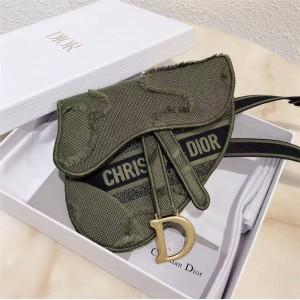 dior中国官网迪奥国际奢侈品牌新款刺绣迷彩Saddle马鞍扁腰包S5632