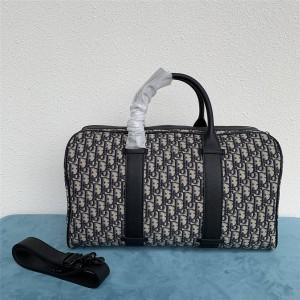 dior香港官网迪奥原单新款男包Oblique 图案提花行李包旅行袋1ESDU079
