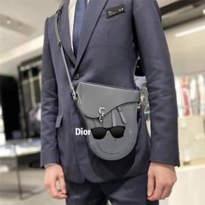 dior官网包迪奥新款男包奢侈品包包网站平纹牛皮 Boxy 手袋1BXPO161
