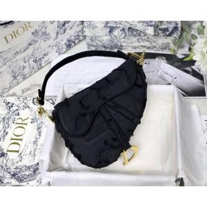 dior香港官网迪奥saddle黑色迷彩奢侈品打折网大号马鞍包M0446