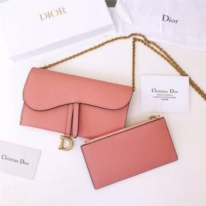 dior美国官网迪奥两件套SADDLE奢侈品商城WOC链条包S5614