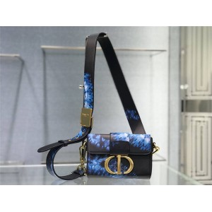 迪奥包包官网代购网原单新款Tie & Dior 图案30 MONTAIGNE 箱型手袋