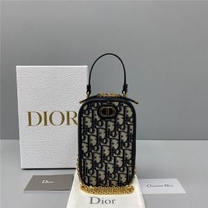 迪奥dior官网正品新款女包30 MONTAIGNE 手机袋斜跨包S2114