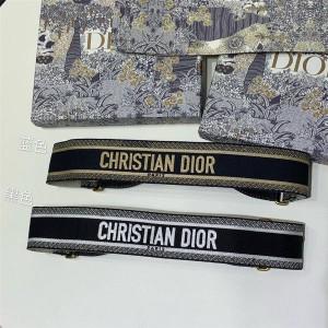 迪奥中国官网正品女士腰封刺绣Christian Dior标志腰带65毫米B0001