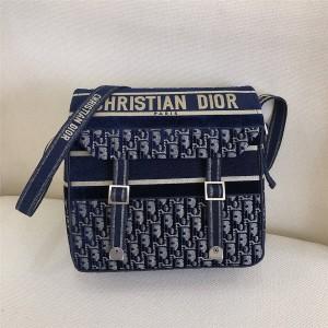 dior官网女包迪奥原单天鹅绒 Oblique 印花DIORCAMP 手袋邮差包M1291