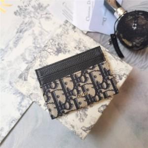 dior防伪码查询迪奥官网新款老花Oblique 印花卡夹卡包