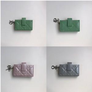 迪奥官网奢侈品包包排行榜LADY DIOR真皮风琴卡包S0074