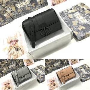 DIOR中国官网迪奥代购亚光磨砂30 MONTAIGNE 箱型手袋盒子包M9204