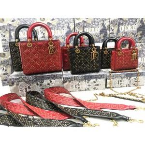 DIOR迪奥官网奢侈品品牌新款Amour情人节Lady️铆钉爱心吊饰手袋戴妃包