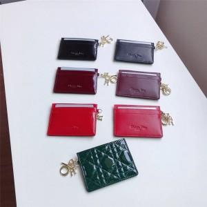 迪奥官网奢侈品网站LADY DIOR 平盖卡夹卡包S0126