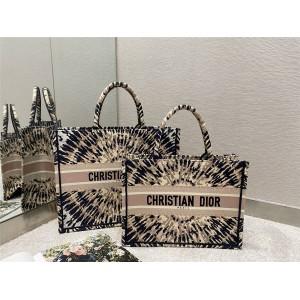 迪奥官网奢侈品代购多色 Tie & Dior 刺绣BOOK TOTE托特包购物袋