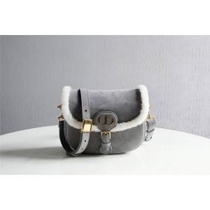 DIOR迪奥官网国际奢侈品牌新款皮毛一体中号BOBBY 手袋M9319