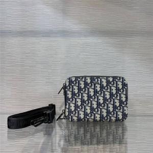 DIOR迪奥官网世界奢侈品新款男士homme老花Oblique手拿包相机包