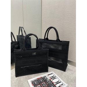 DIOR迪奥官网中国奢侈品网网眼织物镂空BOOK TOTE 手袋购物袋