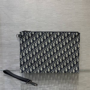 DIOR迪奥官网代购原单男士Oblique 印花A4 手拿包2ESCA339