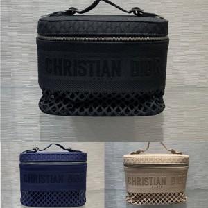 迪奥官网奢侈品包包论坛DIORTRAVEL VANITY 手袋镂空化妆包S5480