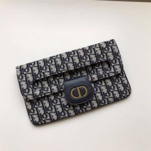 迪奥官网正品奢侈品代购网Oblique帆布DIORDOUBLE手拿包