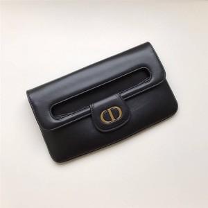 迪奥官网国外奢侈品网站新款女士真皮DIORDOUBLE手拿包
