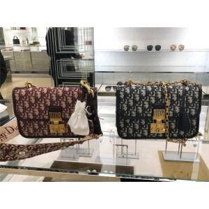 Dior/迪奥代购中文官网原单女包Dioradict帆布链条包