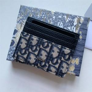 dior中文官网迪奥代购Oblique 印花卡套卡片夹卡包