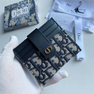dior官网网站迪奥正品Oblique 老花30 MONTAIGNE 卡包