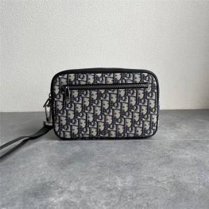 dior官网扫码迪奥正品Oblique 印花洗漱包手拿包2ESCA340