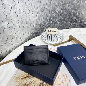 DIOR迪奥官网正品Oblique Galaxy 印花效果皮革卡片夹卡包2ESCH135