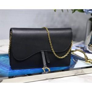 Dior/迪奥中国官网包包Saddle小牛皮Wallet on Chain大手拿包