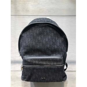 dior官网网站迪奥男士双肩包新款黑色老花OBLIQUE背包