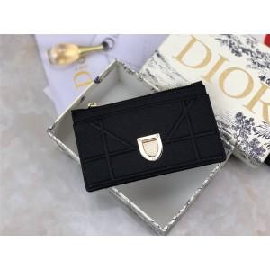 Dior迪奥什么意思女士短款钱包Diorrama盾牌零钱包卡包