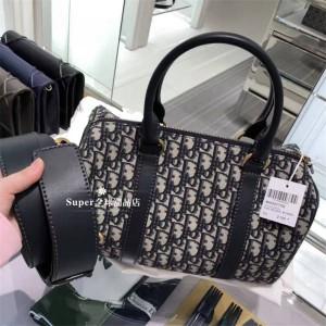 Dior/迪奥中国官网包包新款oblique刺绣系列帆布枕头包