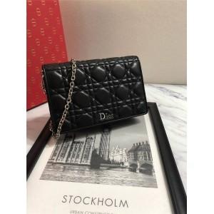 Dior/迪奥中国官网包包经典菱格羊皮Diorama woc链条包