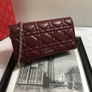 Dior/迪奥官网包包经典羊皮lady dior woc链条包